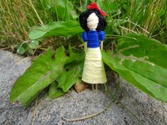 Snow White Toothpick Doll     Disney, and the Seven Dwarfs, princess, friendship, worry, dolls