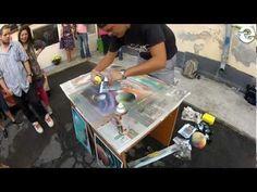 Spray Paint Art - Space Scene