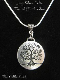 6ffc236272b Silver Celtic Irish Large Tree of Life Necklace