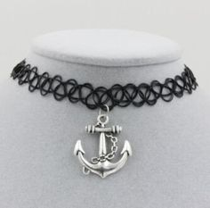 Stretch Tattoo Choker Pendant Necklace - Rebel Style Shop - The Stretch Tattoo Choker Pendant Necklace adds a touch of '90s-inspired style to any casual look.