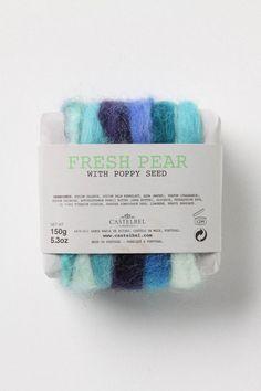 Yarn wound soap.