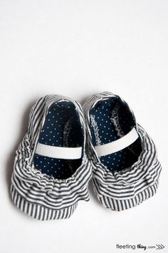 Quality Sewing Tutorials: The Mila baby shoe (pattern and tutorial) from Fleeting Thing