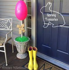 Cute front door topiaries.