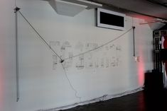 Large scale polargraph drawing machine w/ retractable pen head by studioquasi