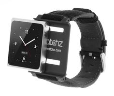 iWatchz Force Collection - Black iPod Watch Strap