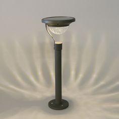 Pollare utebelysning 'Pilari Solar' Moderna grafit/rostfritt stål - LED inkluderat / Utomhus