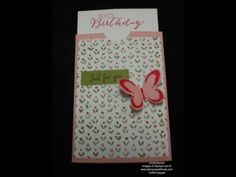 Butterfly Slider Card - STAMPING WITH LINDA