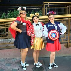 Marvel Cosplay, Disney Cosplay, Captain Marvel, Captain America, Holiday Outfits, Holiday Clothes, Forever 21 Fashion, Nike Pro Women, Saddle Shoes