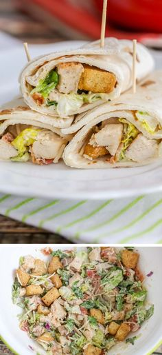 How to make chicken caesar wraps food recipes chicken caesar Chicken Caesar Recipe, Chicken Caesar Wrap, Healthy Food Choices, Healthy Dinner Recipes, Cooking Recipes, Chicken Tortilla Wraps, Chicken Wraps, Healthy Tortilla Wraps, Baked Ranch Chicken