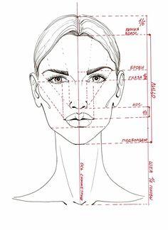 Fashion Figure Drawing, Fashion Design Drawings, Fashion Sketches, Pencil Art Drawings, Drawing Faces, Drawing Sketches, Drawing Tips, Face Proportions Drawing, Sketching