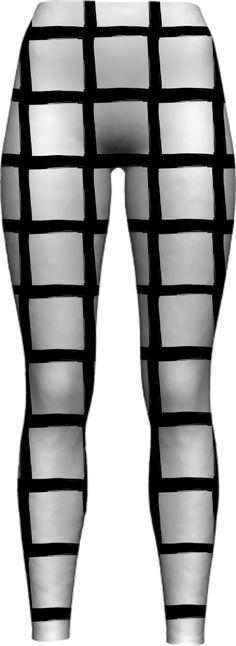 black-and-white-grid-2 WOMEN LEGGING PAOM-VFS by pencilmein
