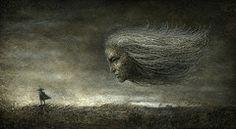 Questions & Answers Yaroslav Gerzhedovich #dark #illustration #artwork
