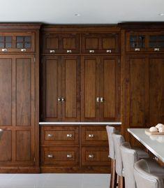 Beech Kitchen Cabinets, Stained Kitchen Cabinets, Walnut Cabinets, Upper Cabinets, Wood Cabinets, Design Kitchen, Kitchen Ideas, Wilton House, Humphrey Munson