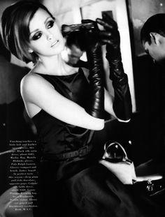"""The Date"", Harper's Bazaar US, August 1995 Photographer : Patrick Demarchelier Model : Trish Goff"