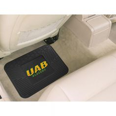 "Alabama Birmingham Blazers NCAA Utility Mat (14x17). ""Boast your team colors with utility mats by FANMATS. High quality and durable rubber construction with your favorite team's logo permanently molded in the center.  Non-skid backing ensures a rugged and safe product.  Due to its versatile design utility mats can be used as automotive rear floor mats for cars, trucks, and SUVs, door mats, or workbench mats."" Availability: Usually ships within 2-3 weeks"