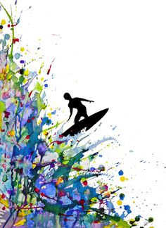 """A Pollock's Point Break"" by Marc Allante (www.marcallante.com)"