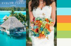teal and orange wedding | Wedding colour ideas | Calgary wedding planner | Wedding design ...