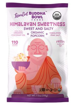 Our Himalayan Sweetness Organic Popcorn adds a hint of organic cane sugar to our classic snack for a low calorie popcorn that doesn't taste low-calorie at all! Coconut Oil Popcorn, Flavored Popcorn, Organic Coconut Oil, Organic Oil, Low Calorie Popcorn, Organic Popcorn, Packaging Snack, Pink Popcorn, Benefits Of Organic Food