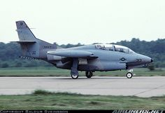North American T-2 Buckeye intermediate trainer of US Navy VF-43.