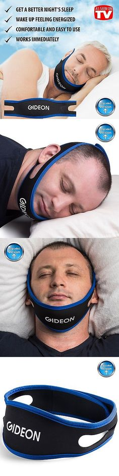 Chin Straps: Gideon Adjustable Anti-Snoring Chin Strap Natural And Instant Snore Relief ... BUY IT NOW ONLY: $33.2