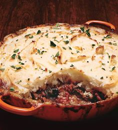 Lamb and Eggplant Shepherd's Pie. HELLO amazingness!! my dad made this this weekend and it was the best! Bought the lamb at Trader Joe's.
