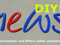 Holzbuchstaben ★ Hausnummer DIY ★ Kreativ-Set