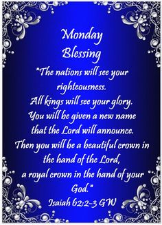 Monday Morning Quotes, Psalms Quotes, Monday Blessings, Favorite Bible Verses, New Names, Scripture Verses, Mondays, Mornings, Gratitude