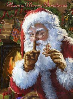 Its Santa - art by Marcello Corti, via advocate-art Old Fashioned Christmas, Christmas Scenes, Father Christmas, Santa Christmas, Christmas Pictures, Winter Christmas, Xmas, Christmas Mantles, Christmas Cross