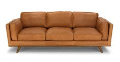Timber Charme Tan Sofa - Sofas - Article | Modern, Mid-Century and Scandinavian Furniture