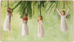 Willow Tree Ornaments #willowtree #ornaments #christmas #commemorative