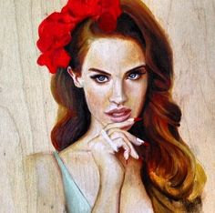 Lana Del Rey art by Lucas David | Art ideas | Pinterest ...