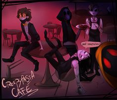 At with awesome person here ----> Tbh I would draw that even if we weren't doing At because I just like your comic A LOT but you know that already. ;D Hope you like it Allo~ //No L.J bc I... Jeff The Killer, Scary Stories, Horror Stories, Creepypastas Ticci Toby, Creepypasta Slenderman, Gintama, Creepy Pasta Family, Desenhos Gravity Falls, Eyeless Jack