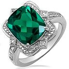 Lab-Created Emerald Ring Sterling Silver Jared