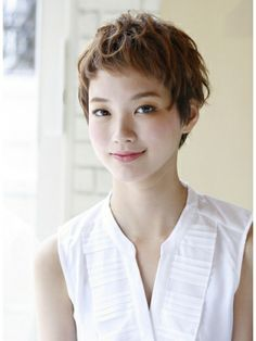 cute short hair X Shot Hair Styles, Curly Hair Styles, Pixie Haircut, Short Haircut, Very Short Bangs, Asian Short Hair, Corte Bob, Cute Hairstyles For Short Hair, Beautiful Long Hair