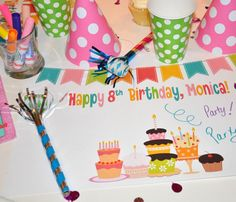 Personalized Paper Placemat PACKAGE  Custom Birthday by TIPgifts, $19.75