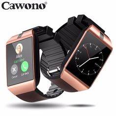 Cheap smart watch, Buy Quality smart watch directly from China smart Suppliers: Cawono Bluetooth Smart Watch Relogio Android Smartwatch Phone Call SIM TF Camera for IOS iPhone Samsung HUAWEI VS Bluetooth, Cool Watches, Watches For Men, Trendy Watches, Smartwatch, Ios Iphone, Android Watch, Android Phones, Remote Camera