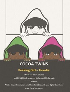 African American Art, File Format, Peek A Boos, Image Collection, Black Girl Magic, Digital Image, Cocoa, Twins, Layers