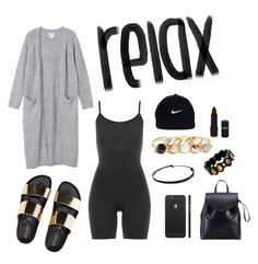"""Take It EaZy"" by clynnstyle on Polyvore featuring Monki, SPANX, GUESS, Loeffler Randall, NIKE and NYX"