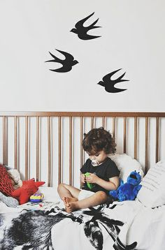 DIY: swallows wall stickers