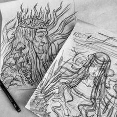 Coming soon #blackfurystale #art #illustration #faerytale #fantasyartist #fantasy #sketch