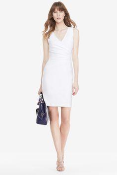 DVF Layne Ruched Sheath Dress