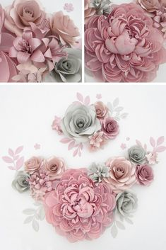 Above Crib Giant Paper Flowers, Wall Art of Large Paper Flowers Wall Backdrop for Nursery Decor, Wedding Crepe Paper Flowers, Dusty Rose Paper Flower Patterns, Paper Flowers Craft, Large Paper Flowers, Paper Flowers Wedding, Paper Flower Wall, Crepe Paper Flowers, Paper Flower Backdrop, Wedding Flower Decorations, Flower Crafts