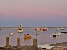 Sunset Sky over the Fish Pier, Chatham, Cape Cod