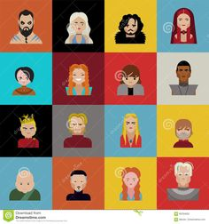 Game Of Thrones Characters, Icons Emojis And Cartoon - Download From Over 66 Million High Quality Stock Photos, Images, Vectors. Sign up for FREE today. Image: 69764932