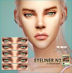 Sims 4 CC's - The Best: Eyeliner by Tifa