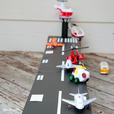 DIY cardboard airport toy to make for kids.   at Non Toy GIfts