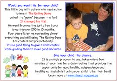 Why would you not give your child this chance to improve their eating habits, to be healthier? www.theeatinggame.ca