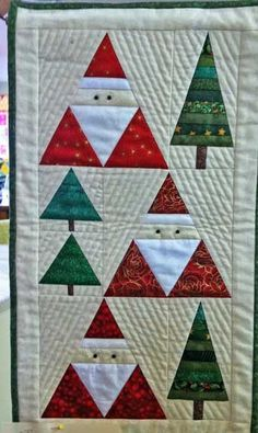 Santa & Christmas Trees Wall Hanging Pattern to buy.