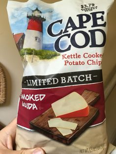 Cape cod kettle cooked potato chips Limited batch smoked Gouda