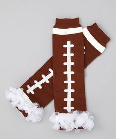 Take a look at this Football Ruffle Leg Warmers by Head over Heels on #zulily today!